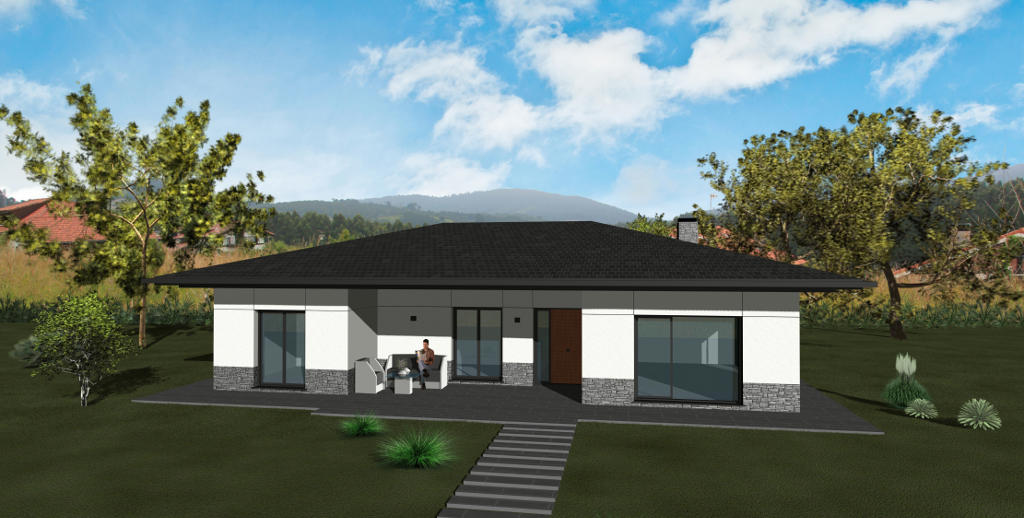 Chalets en andrakas lemoiz inmobiliaria garar for Modelos de chalets de una planta